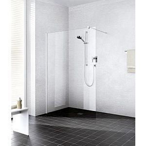 Kermi Système de verre Xb XBWIW12020VPK 118-120x200cm, argent brillant, TSG clear Clean