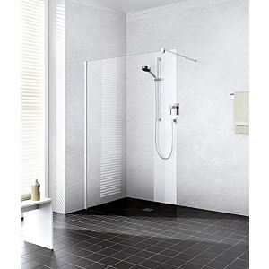 Kermi Xb glass system XBWIW10020VFK 98-100x200cm, silver high gloss ESG Stripe Clean