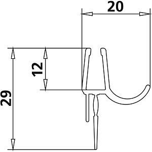 Kermi Liga Dichtleiste 2534981 LI 1ER/L, LI EPR/L, 2x985mm, waagerecht