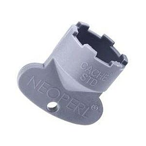 Neoperl cache service key 09915246 STD / M 24x1, gray, for mounting the aerator