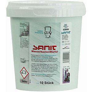 Sanit Wasserkastenwürfel 3056 Reinigungswürfel  für Einwurfschacht Geberit, 10 Stück