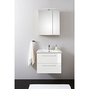Artiqua Basic Bathroom furniture -Block PLUS with LED-SPS 808.11091004 100 cm, white high gloss, with Bathroom ceramics washbasin and Bathroom ceramics unit