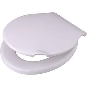 Pagette Pagette Spezial WC siège 790900102 blanc, avec revêtement, fixation en plastique