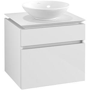 Villeroy & Boch Legato Waschtischunterschrank B56800DH 60x55x50cm, Glossy White