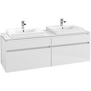 Villeroy & Boch Legato Waschtischunterschrank B693L0DH 160x55x50cm, mit LED-Beleuchtung, Glossy White