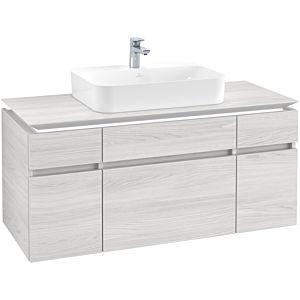 Villeroy & Boch Legato Waschtischunterschrank B758L0E8 120x55x50cm, mit LED-Beleuchtung, White Wood