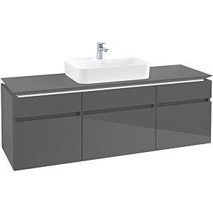 Villeroy & Boch Legato Waschtischunterschrank B762L0FP 160x55x50cm, mit LED-Beleuchtung, Glossy Grey