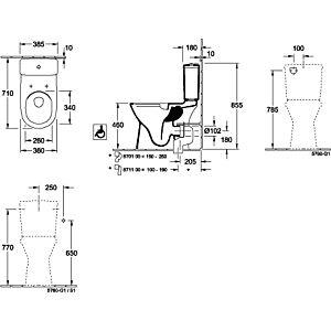 Villeroy & Boch O.novo Spülkasten 5760G101 Zulauf seitlich oder von hinten, weiß
