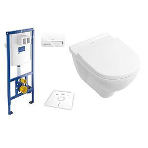 Villeroy & Boch O.Novo & ViConnect Set spülrandlos, weiß Ceramicplus, mit WC-Sitz