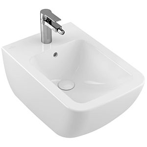 Villeroy and Boch Venticello wall Bidet 441100RW 56x37.5cm, stone white C-plus, with tap hole, with overflow