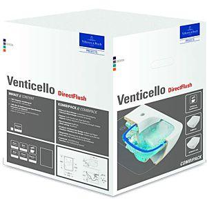 Villeroy & Boch Venticello WC Combi Pack 4611RS01 weiß, DirectFlush, mit WC-Sitz