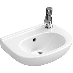 Villeroy & Boch O.Novo Handwaschbecken 536036R1 Compact, 36x27,5cm, weiss c-plus, mit Überlauf