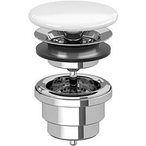 Villeroy and Boch valve 68080001 not lockable, chrome-plated, valve Bathroom ceramics white