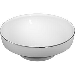 Vitra Options / vasque à encastrer 4334B071-2300 d = 40cm, rond, sans trop-plein / trou pour robinetterie, blanc, bord platine