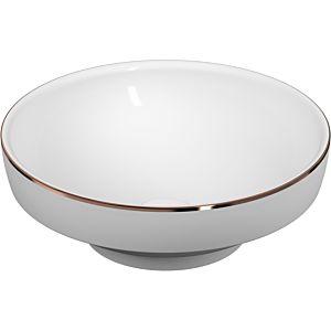Vitra Options Aufsatzschale/Einbauwaschtisch 4334B073-2300 d= 40cm, rund, ohne Überlauf/Hahnloch, weiß, Kupferrand