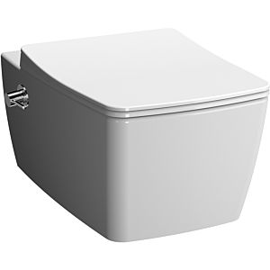 Vitra Metropole wall-mounted, washdown WC 7672B003-1684 white, with bidet function and tap on the right, 36x56cm, 3/6 l