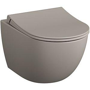 Vitra Sento wall washdown WC 7748B020-0101 36.5x54cm, 3/6 l, without flush rim, Taupe matt