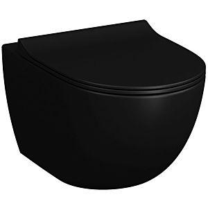 Vitra Sento wall Sento WC 7748B083-0101 36,5x54cm, 3/6 l, sans rebord affleurant, noir mat