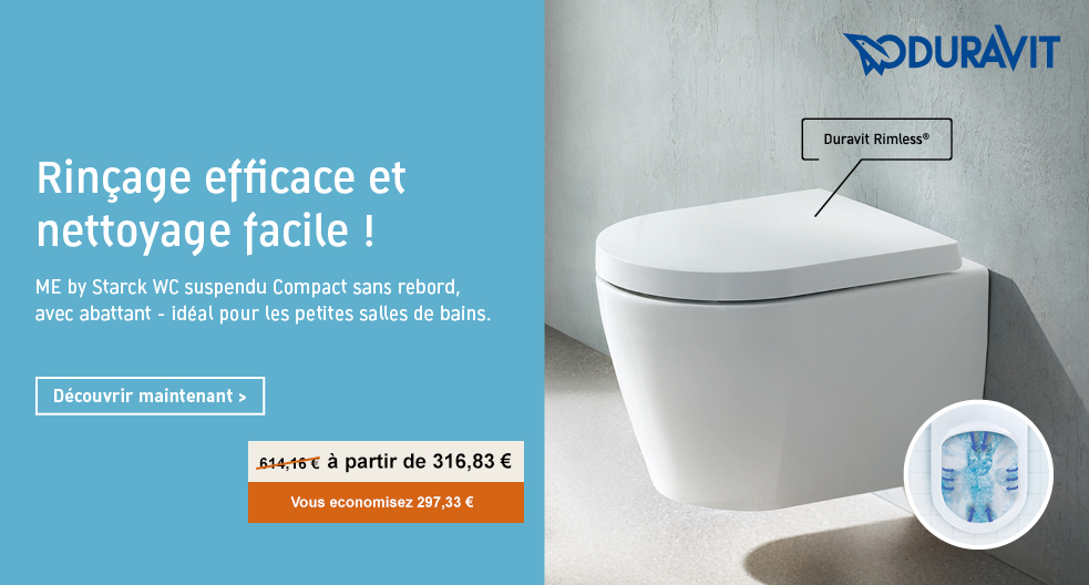 Cuvette Compact Rimless Duravit Me by Starck