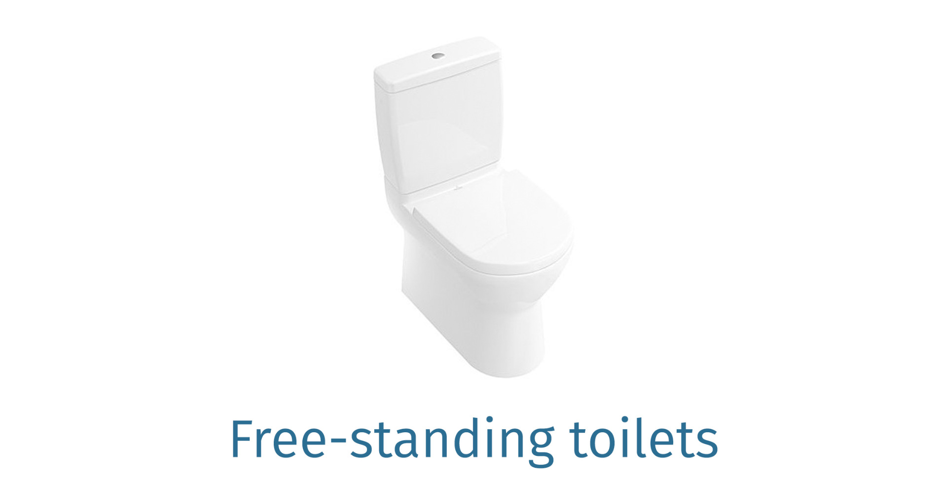 Free-standing toilets