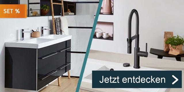 Badezimmer- und Spülen-Sets zum Sonderpreis.