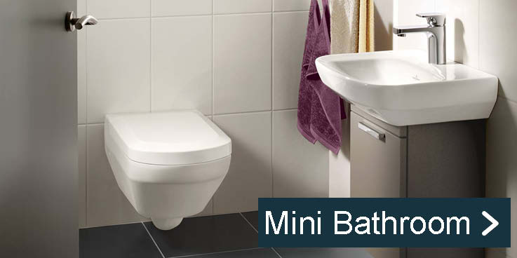 Compact products for small bathrooms.