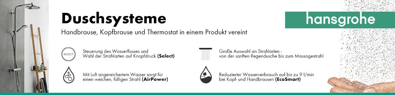 Vorteile hansgrohe Showerpipes und Duschsysteme